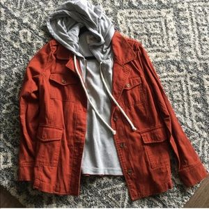 Orange Utility Jacket NWT